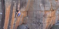 Giuliano Cameroni The Smile 8c Highball Boulder Rocklands