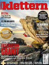 KL 05 - 2016 klettern Magazin Cover Titel