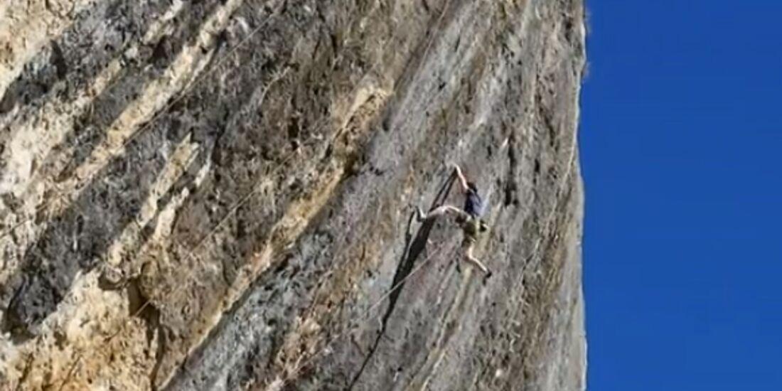 KL Adam Ondra klettert Fight or Flight 9b in Oliana, Spanien Teaserbild