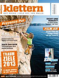 KL Magazin klettern Titel Dezember 2012 + Januar 2013