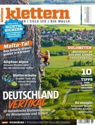 KL klettern Magazin Juni 2013 Cover Titel