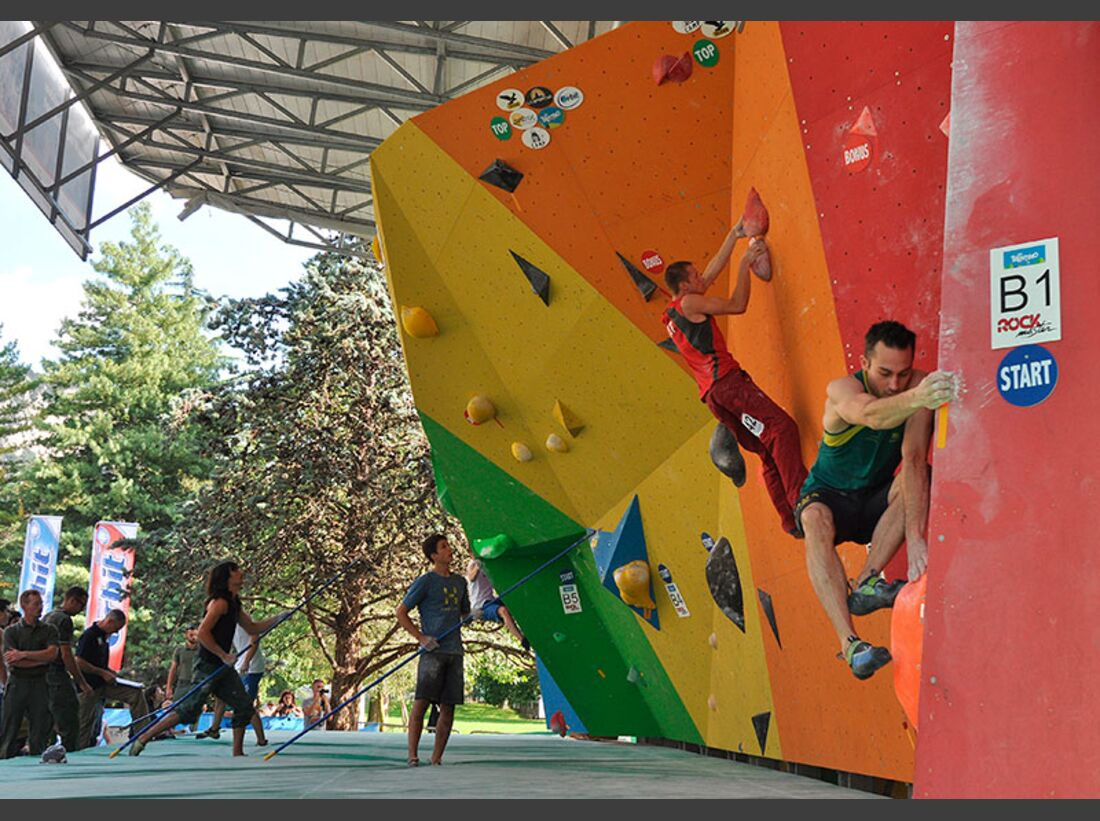 Kletter-Wettkampf: Rock Master Arco am Gardasee (Bilder International Open Boulder) 7